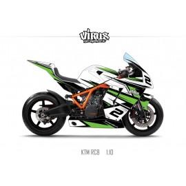 Kit déco KTM RC8 1.10 Blanc Noir Vert