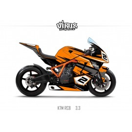 Kit déco KTM RC8 3.3 Orange Noir Gris