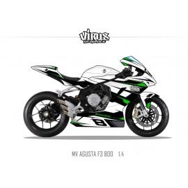 Kit déco MV AGUSTA F3 1.4 Blanc Noir Vert