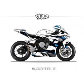 Kit déco MV AGUSTA F3 1.5 Blanc Noir Bleu