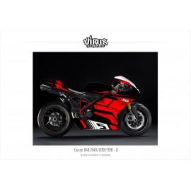 Kit déco Ducati 1098/1198 1.1 Noir Rouge