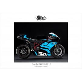 Kit déco Ducati 1098/1198 1.2 Noir Bleu