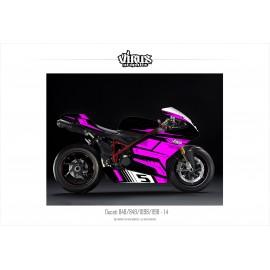 Kit déco Ducati 1098/1198 1.4 Noir Rose