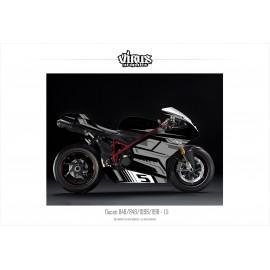 Kit déco Ducati 1098/1198 1.5 Noir Gris