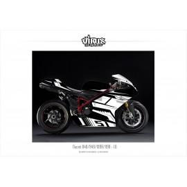 Kit déco Ducati 1098/1198 1.6 Noir Blanc