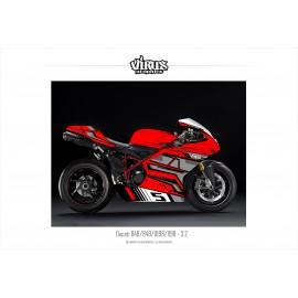 Kit déco Ducati 1098/1198 3.2 Rouge Gris Noir