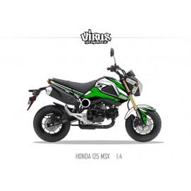 Kit déco Honda MSX 125 2013/15 1.4 Blanc Vert Noir