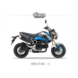Kit déco Honda MSX 125 2013/15 1.5 Blanc Bleu Noir