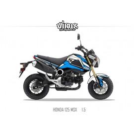 Kit déco Honda MSX 125 2013/15 1.1 Blanc Bleu Noir