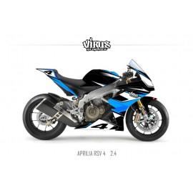 Kit déco Aprilia RSV4 2.4 Noir Bleu Blanc