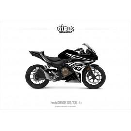 Kit déco Honda CBR500R 2016/18 1.4 Noir Gris Blanc