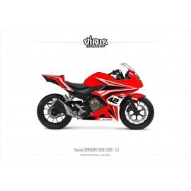Kit déco Honda CBR500R 2016/18 3.1 Rouge Noir Blanc
