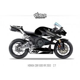 Kit déco Honda CBR600RR 2013 2.7 Noir Gris Blanc