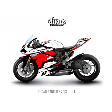 Kit déco Ducati Panigale V2 2013 1.1 Blanc Rouge Noir