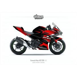 Kit déco Kawasaki Ninja 400 2018 1.1 Noir Rouge Gris