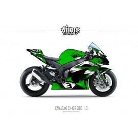 Kit déco Kawasaki ZX10R 2016 1.0 Vert Noir Blanc