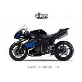 Kit déco Yamaha R1 2009/14 1.10 Noir Noir BleuF