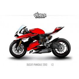 Kit déco Ducati Panigale V2 2013 1.3 Rouge Blanc Noir