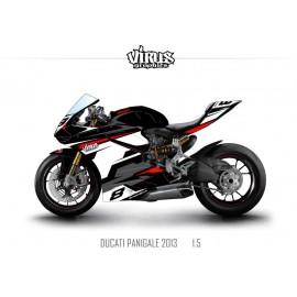 Kit déco Ducati Panigale V2 2013 1.5 Noir Blanc Rouge Gris