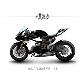 Kit déco Ducati Panigale V2 2013 1.8 Noir Blanc Gris