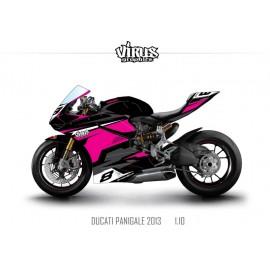Kit déco Ducati Panigale V2 2013 1.10 Noir Rose Gris