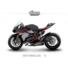 Kit déco Ducati Panigale V2 2013 1.11 Noir Gris Rouge