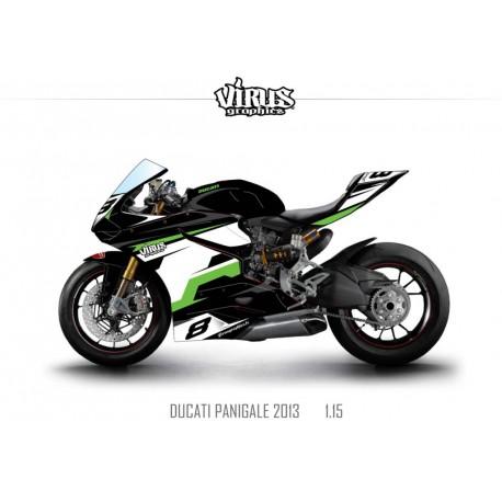 Kit déco Ducati Panigale V2 2013 1.15 Noir Blanc Vert