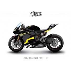 Kit déco Ducati Panigale V2 2013 1.17 Noir Gris Jaune