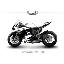 Kit déco Ducati Panigale V2 2013 1.18 Blanc Noir Gris