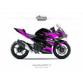 Kit déco Kawasaki Ninja 400 2018 1.7 Noir Rose Gris
