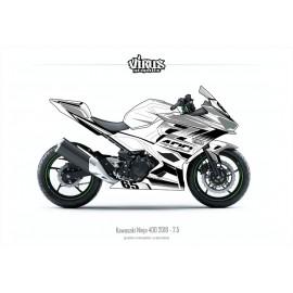 Kit déco Kawasaki Ninja 400 2018 2.5 Blanc Gris Noir