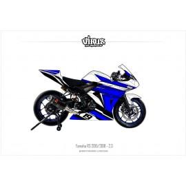 Kit déco Yamaha R3 2015/18 2.3 Blanc Bleu Noir