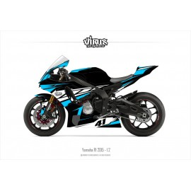 Kit déco Yamaha R1 2015/19 1.2 Noir Bleu Blanc
