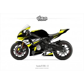 Kit déco Yamaha R1 2015/19 1.3 Noir Jaune Blanc