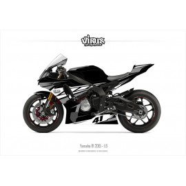 Kit déco Yamaha R1 2015/19 1.6 Noir Gris Blanc
