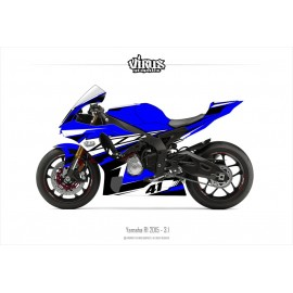 Kit déco Yamaha R1 2015/19 3.1 Bleu Blanc Noir