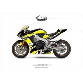 Kit déco Honda CBR1000RR 2017/19 1.3 Noir Jaune Blanc