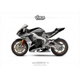 Kit déco Honda CBR1000RR 2017/19 1.5 Noir Gris Blanc