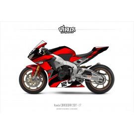 Kit déco Honda CBR1000RR 2017/19 1.7 Noir Rouge Gris