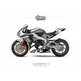Kit déco Honda CBR1000RR 2017/19 2.5 Blanc Gris Noir