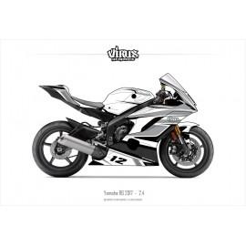Kit déco Yamaha R6 2017 2.4 Blanc Gris Noir