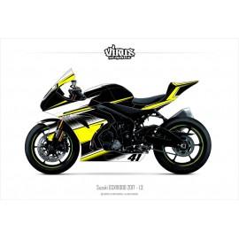 Kit déco Suzuki GSXR1000 2017 1.3 Noir Jaune Blanc