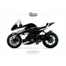 Kit déco Suzuki GSXR1000 2017 1.5 Noir Blanc