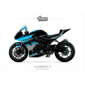 Kit déco Suzuki GSXR1000 2017 1.8 Noir Bleu Gris