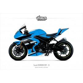 Kit déco Suzuki GSXR1000 2017 3.1 Bleu Noir Blanc