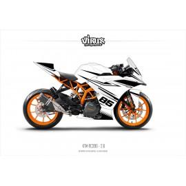 Kit déco KTM RC390 2.6 Blanc Noir