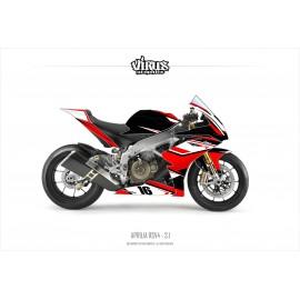 Kit déco Aprilia RSV4 3.1 Noir Rouge Blanc