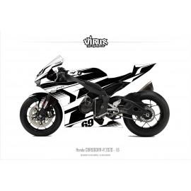 Kit déco Honda CBR1000RR-R 2020 1.6 Noir Blanc