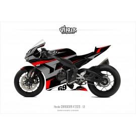 Kit déco Honda CBR1000RR-R 2020 1.8 Noir Gris Rouge