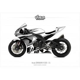 Kit déco Honda CBR1000RR-R 2020 2.5 Blanc Gris Noir